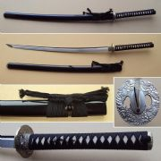 Emperor Katana With Black High Gloss Scabbard (Saya)